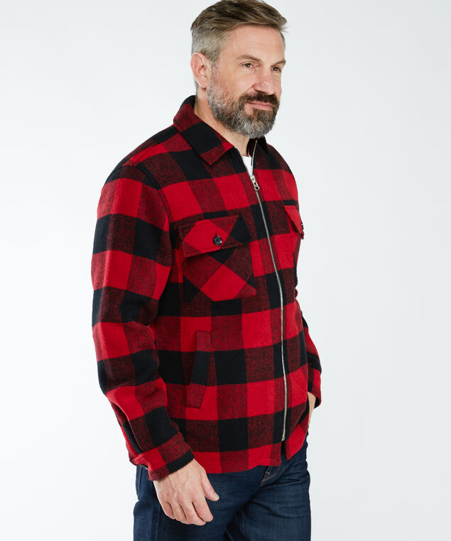 buffalo check jacket, Red/Black