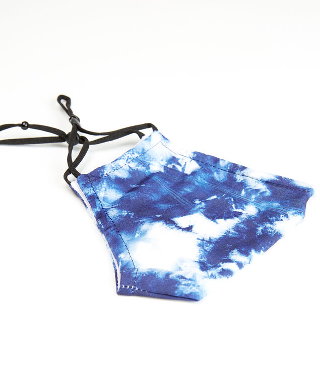 blue tie dye face mask, Blue