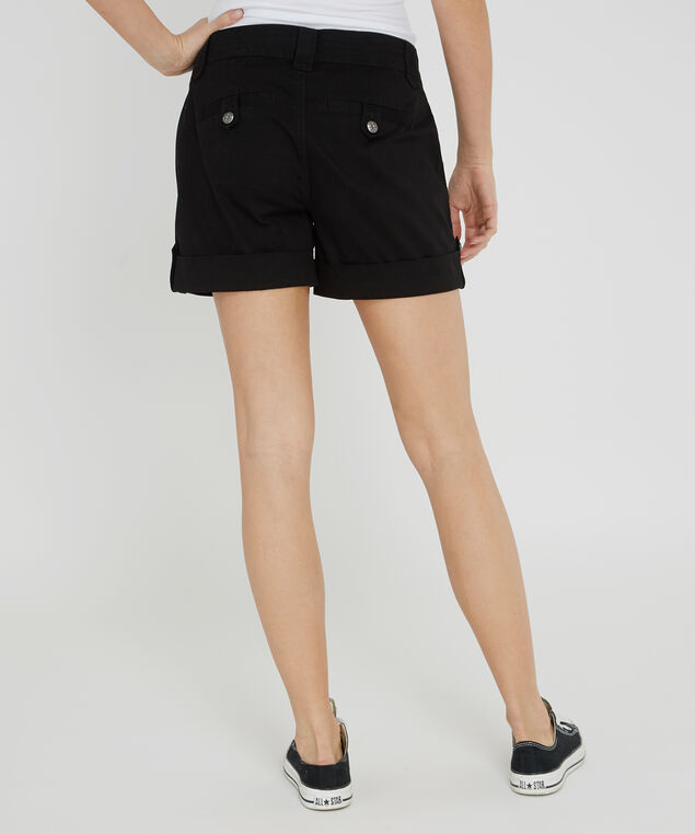 cuffed double pocket short - wb, BLACK, hi-res