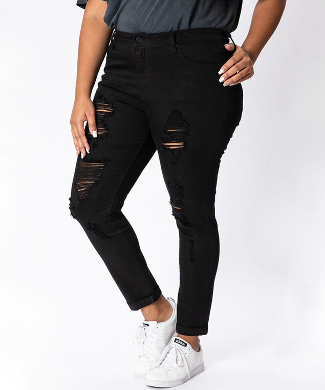 high rise super skinny plus size - wb,