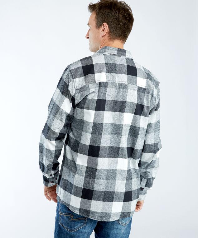 flannel shirt, Grey/Eggshell