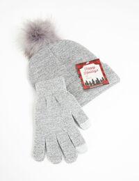 beanie and glove set