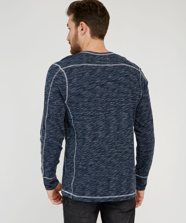 wendell long sleeve graphic, NAVY/WHITE, hi-res