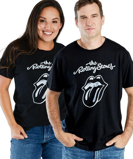 rolling stones boyfriend tee, Black, hi-res