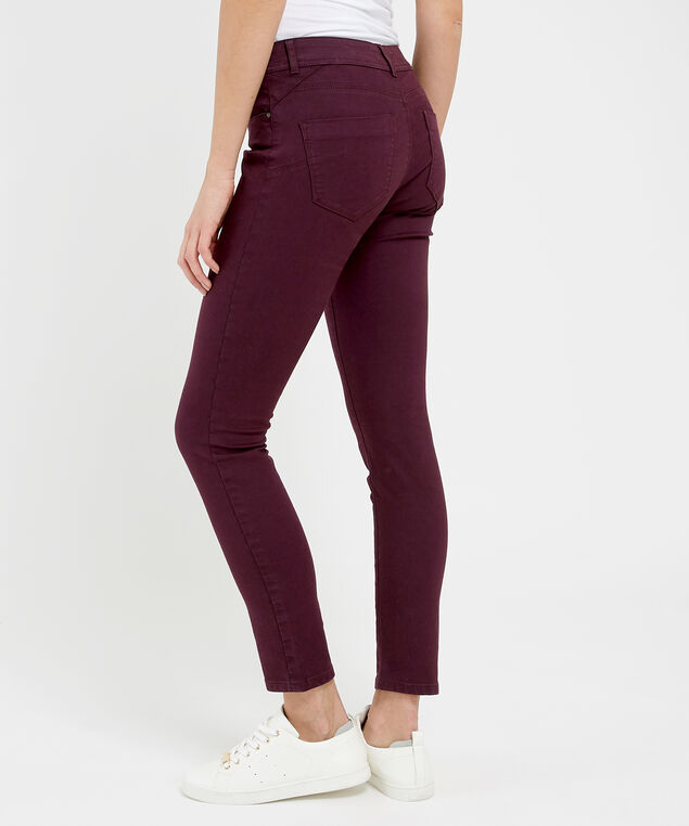 skinny ankle colour grape, , hi-res