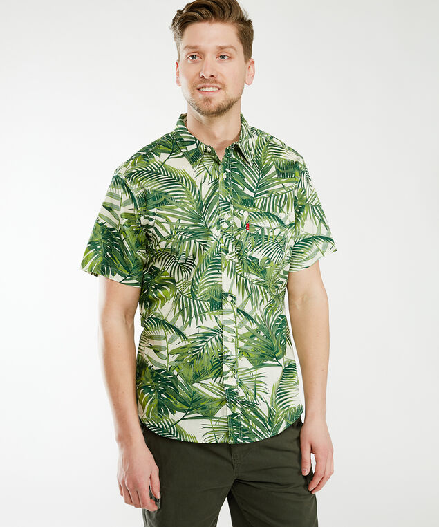 sunset shirt - wb, Tropical Fern