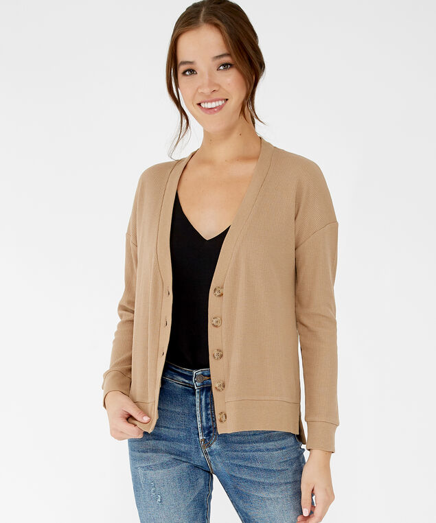 clayton cardigan, Toffee, hi-res