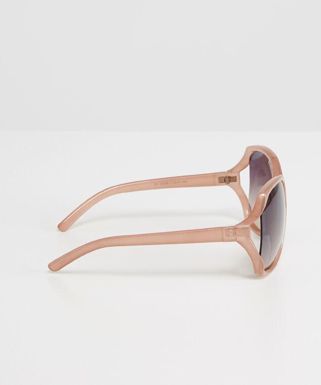 oversized square sunglasses, BROWN, hi-res