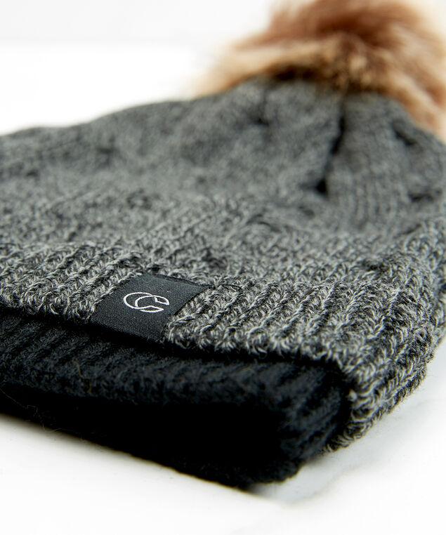 cable knit toque, Grey, hi-res
