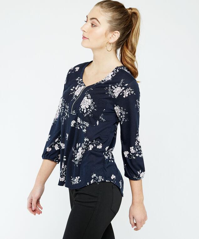 zipper top - wb, Floral, hi-res