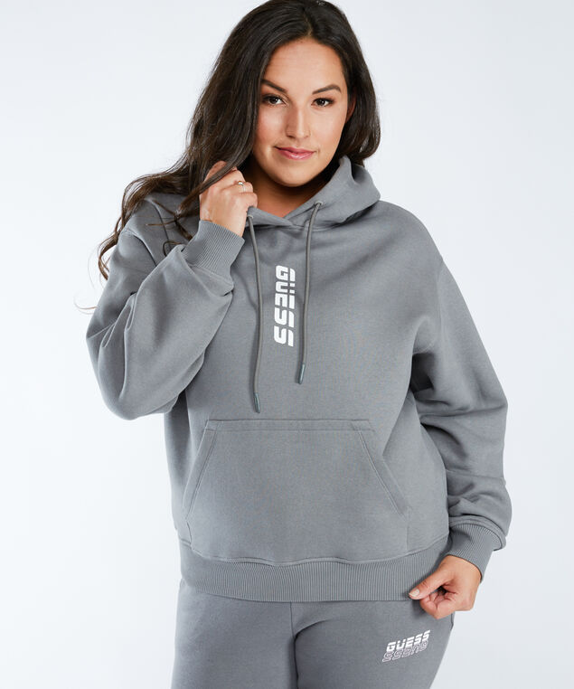 alisha hooded sweatshirt, Stone Grey