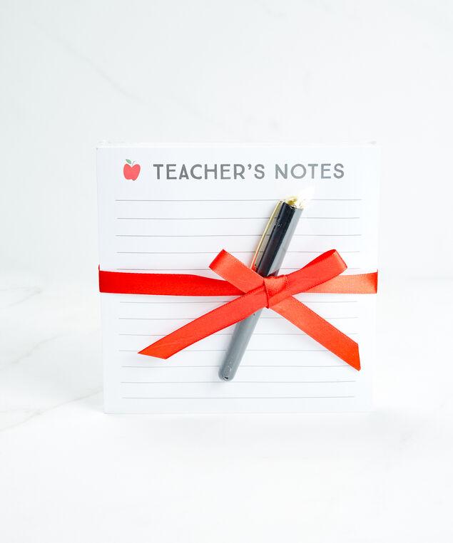 teacher's note pad, White