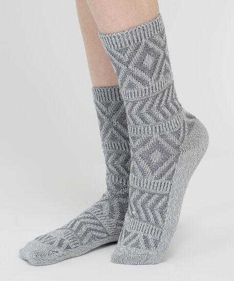 aztec socks, GREY, hi-res