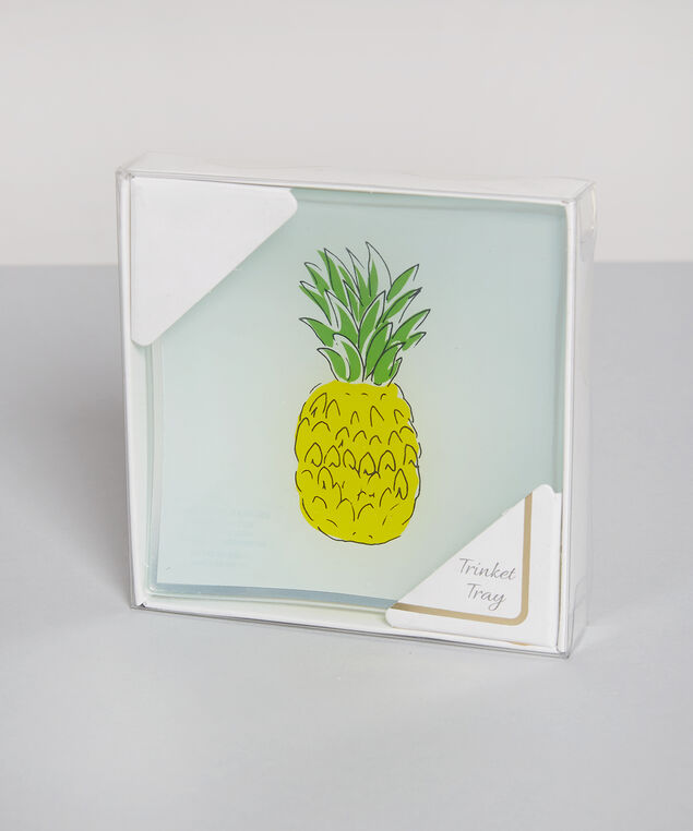 pineapple trinket tray - wb, CLEAR, hi-res