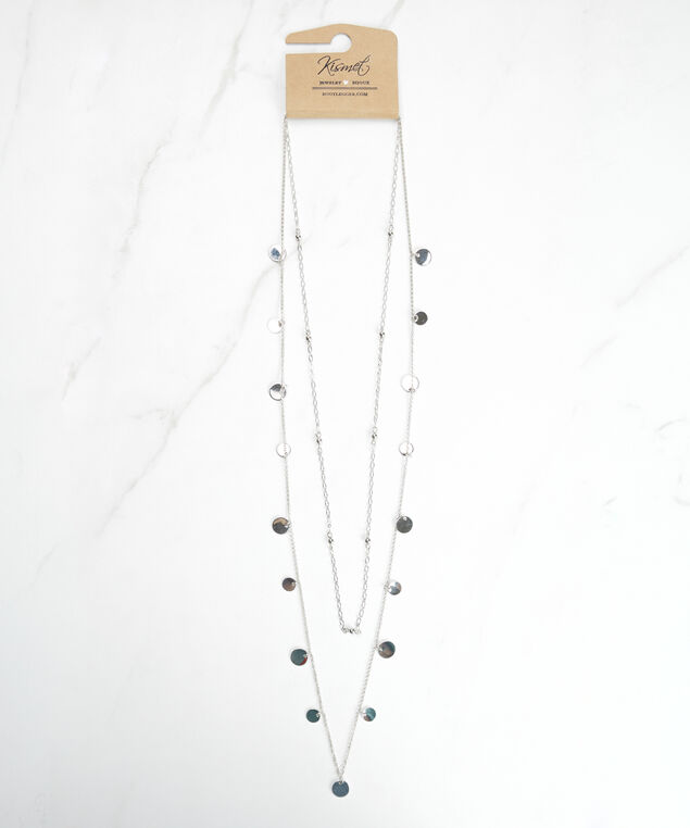 long 2 layer necklace, Silver
