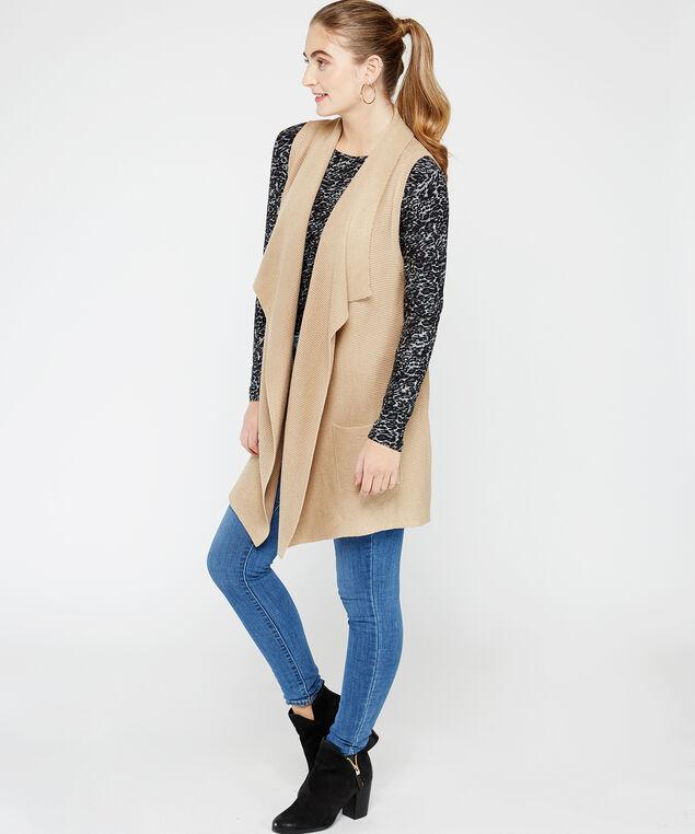 72S1294me sweater vest, Cream, hi-res