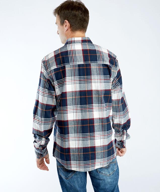 plaid flannel shirt, Navy