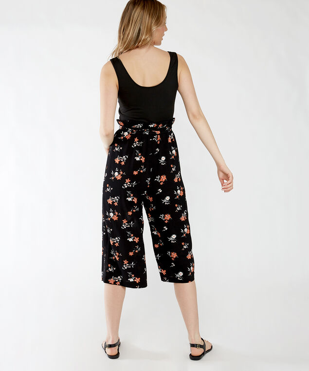 halle, Black with Melon Floral