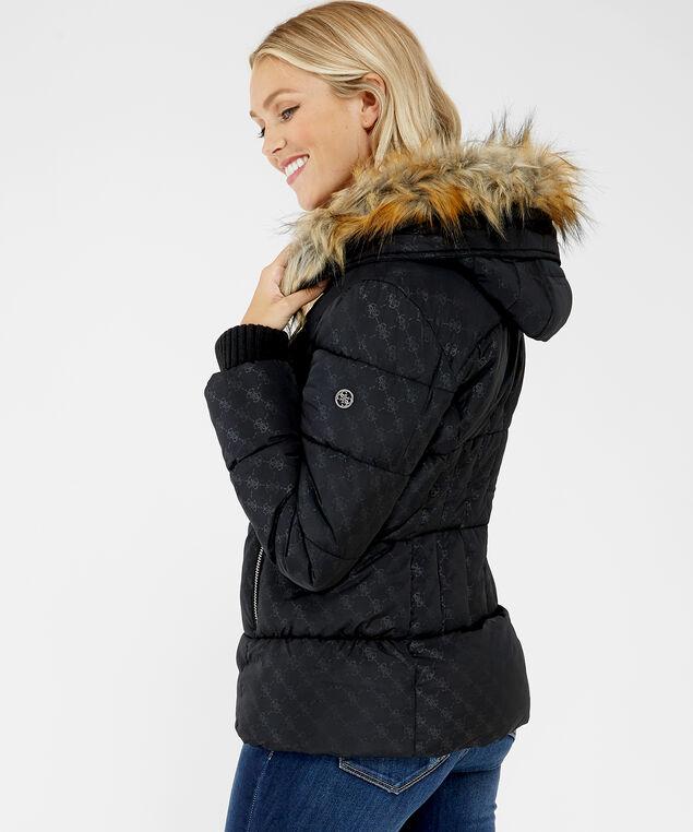 puffer jacket - wb, BLACK, hi-res
