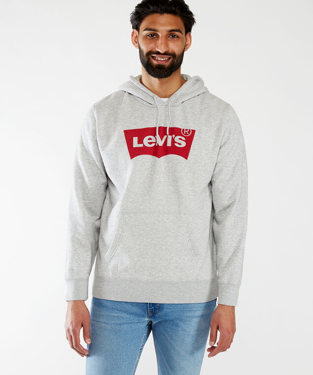 graphic hoodie, Heather Grey