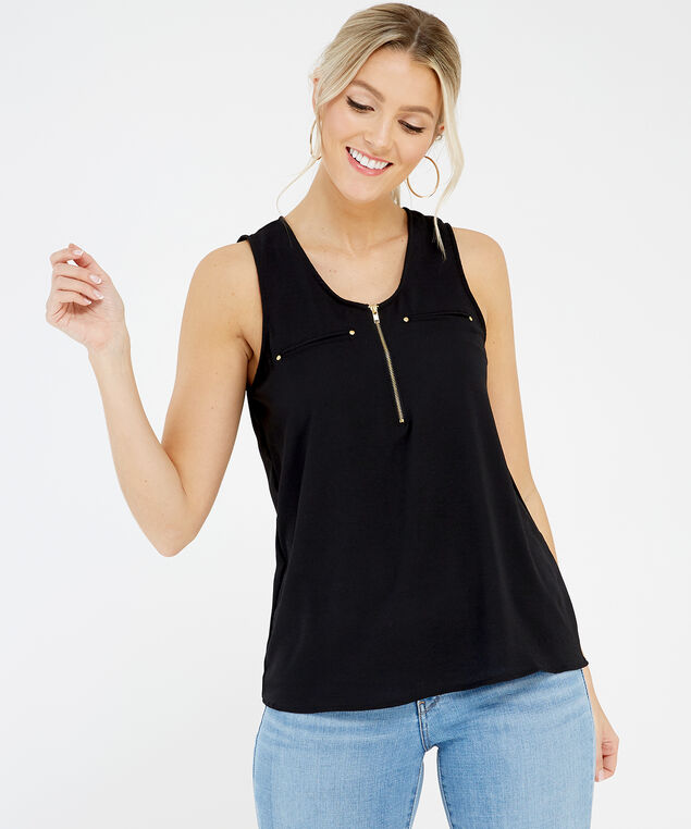 sleeveless top - wb, Black, hi-res