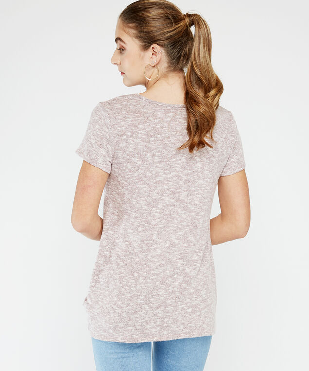 twisted hem tee, Rose