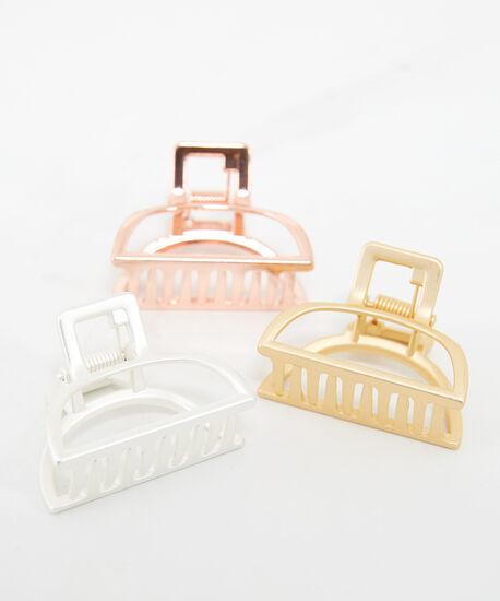 3 pack metallic clips, Assorted, hi-res