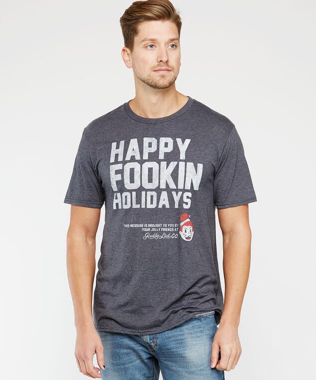 happy fookin holidays, Charcoal, hi-res