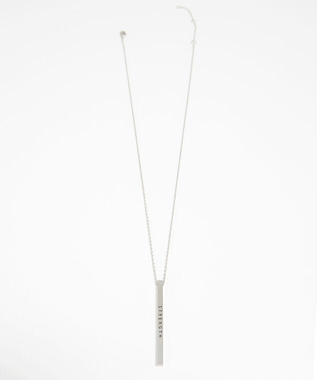 strength bar necklace, SILVER, hi-res