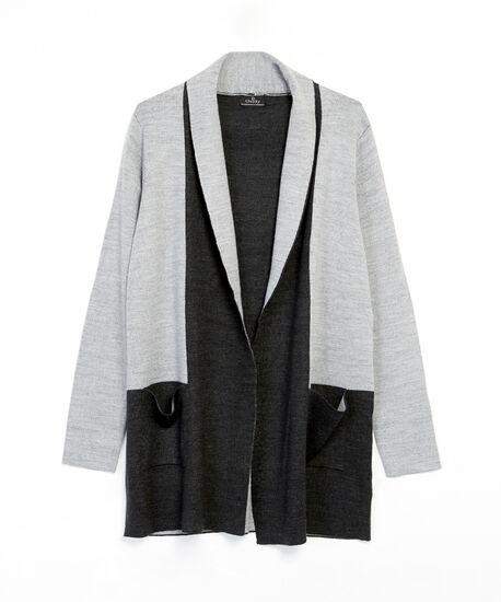 open cardigan - wb, Charcoal, hi-res