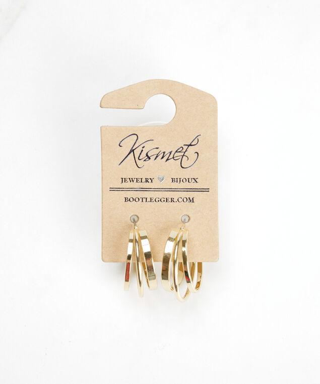 single hoop earrings, Gold