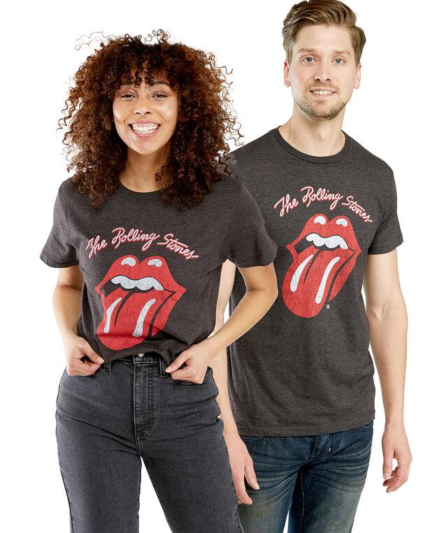 Rolling Stones Crew Tee, Charcoal