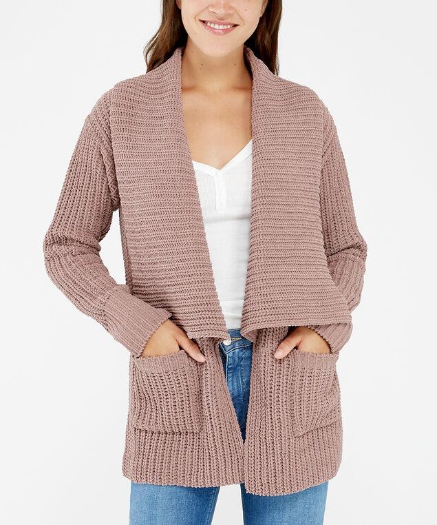 shawl cardigan - wb, MAUVE, hi-res