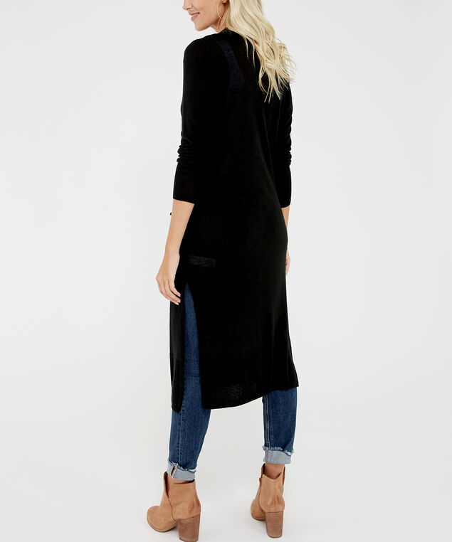duster cardigan - wb, Black, hi-res