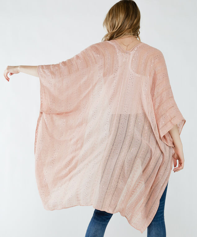 sequined pink kimono, Pink