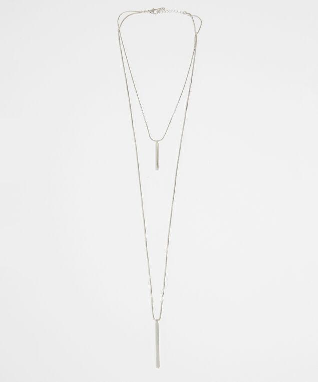 multi chain necklace, SILVER, hi-res