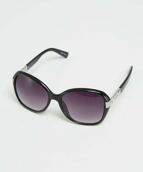 diamonte square sunglasses, Black, hi-res