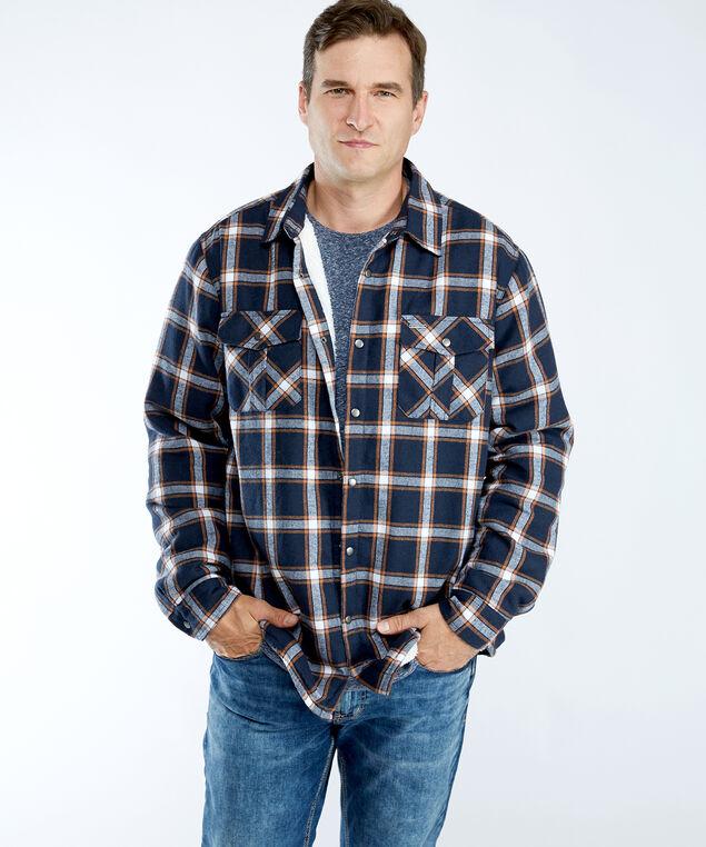 sherpa lined shirt, Navy