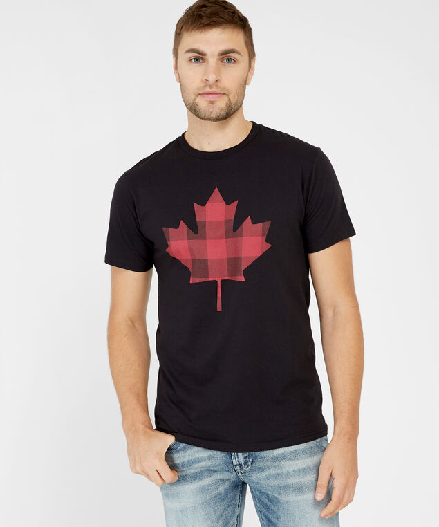 maple leaf graphic, BLACK, hi-res