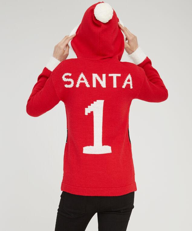 santa sweater with hood, SANTA, hi-res