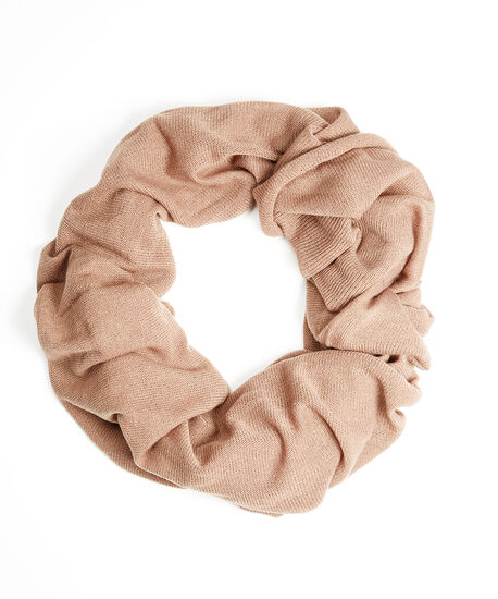 knit infinity scarf, Brown, hi-res