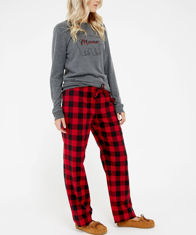 sleepy pajama pant, Red Print, hi-res