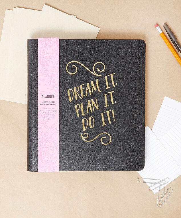 Dream it, plan it, do it agenda, BLACK, hi-res