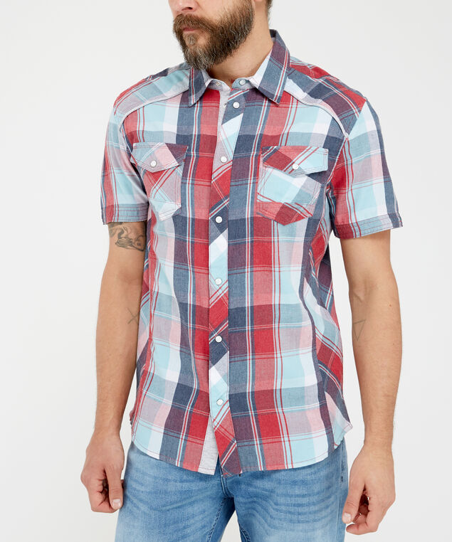 weather short sleeve, Peppermint/Red/Navy, hi-res