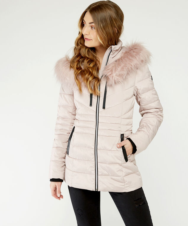 mid length puffer - wb, Pink, hi-res