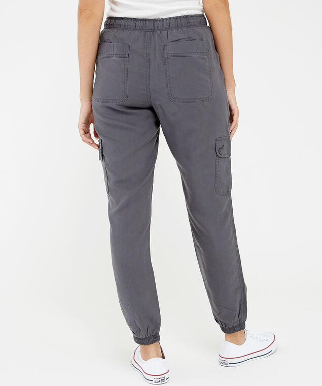sandy soft cargo jogger charcoal, , hi-res