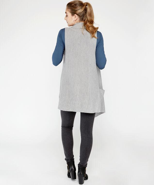 72S1294me sweater vest, Grey, hi-res
