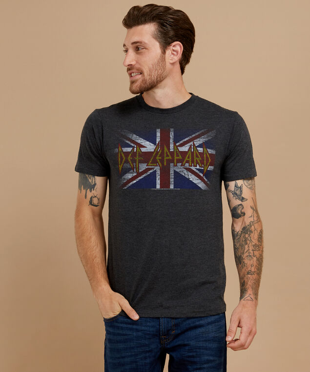 def leppard graphic tee, CHARCOAL HEATHER, hi-res