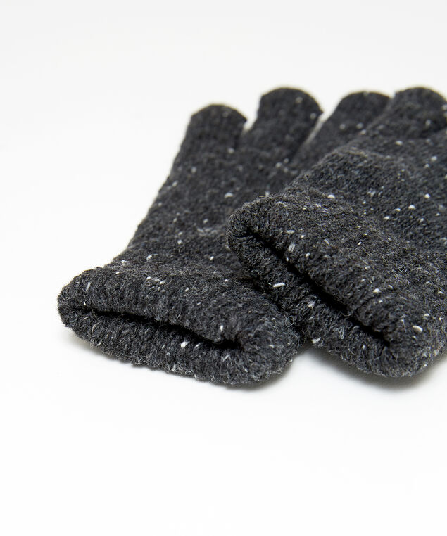 speckled gloves, DARK GREY, hi-res