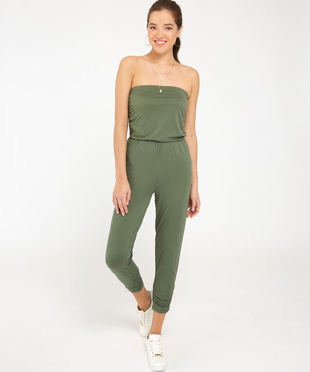 strapless jumpsuit - wb, MEDIUM GREEN, hi-res